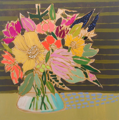 luliewallace:  24x24 Flowers for Ingrid!  Possibly one of top faves!  SHOP!