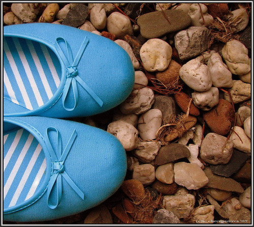 blue shoes. by Fantoccio on Flickr.