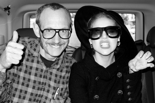 terrysdiary:  Me and Lady Gaga in the back of a car.