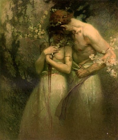 colourthysoul:  Alphonse Mucha - Spring Night (1910)