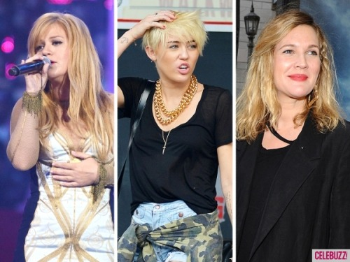 Miley Cyrus, Drew Barrymore, Kelly Clarkson and other stars gone blonde