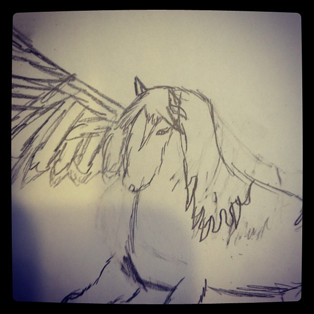 Katie's latest, horse with wing. (Taken with Instagram)