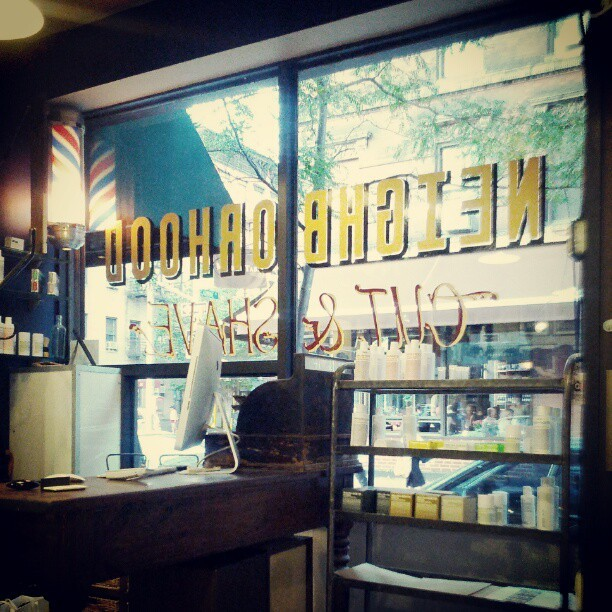 Getting dat fresh cut. (Taken with Instagram at Neighborhood Cut and Shave.  Barber Shop)