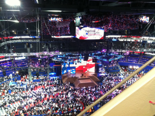 OK, my view @ #gop2012 has improved.
