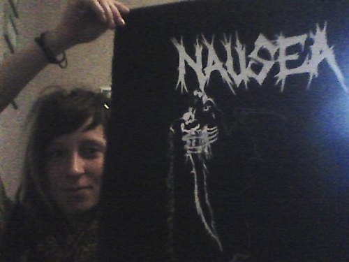 Nausea backpatch I found the other day in a raaaandom ass store  i was thrilled