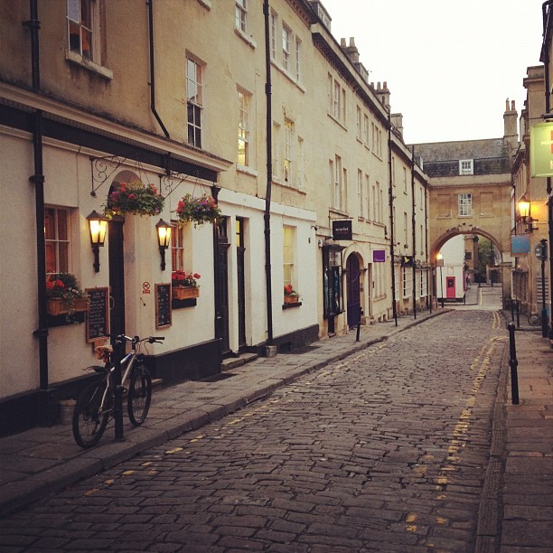 delusions-and-grandeur:  street of Bath, England | Taken with Instagram