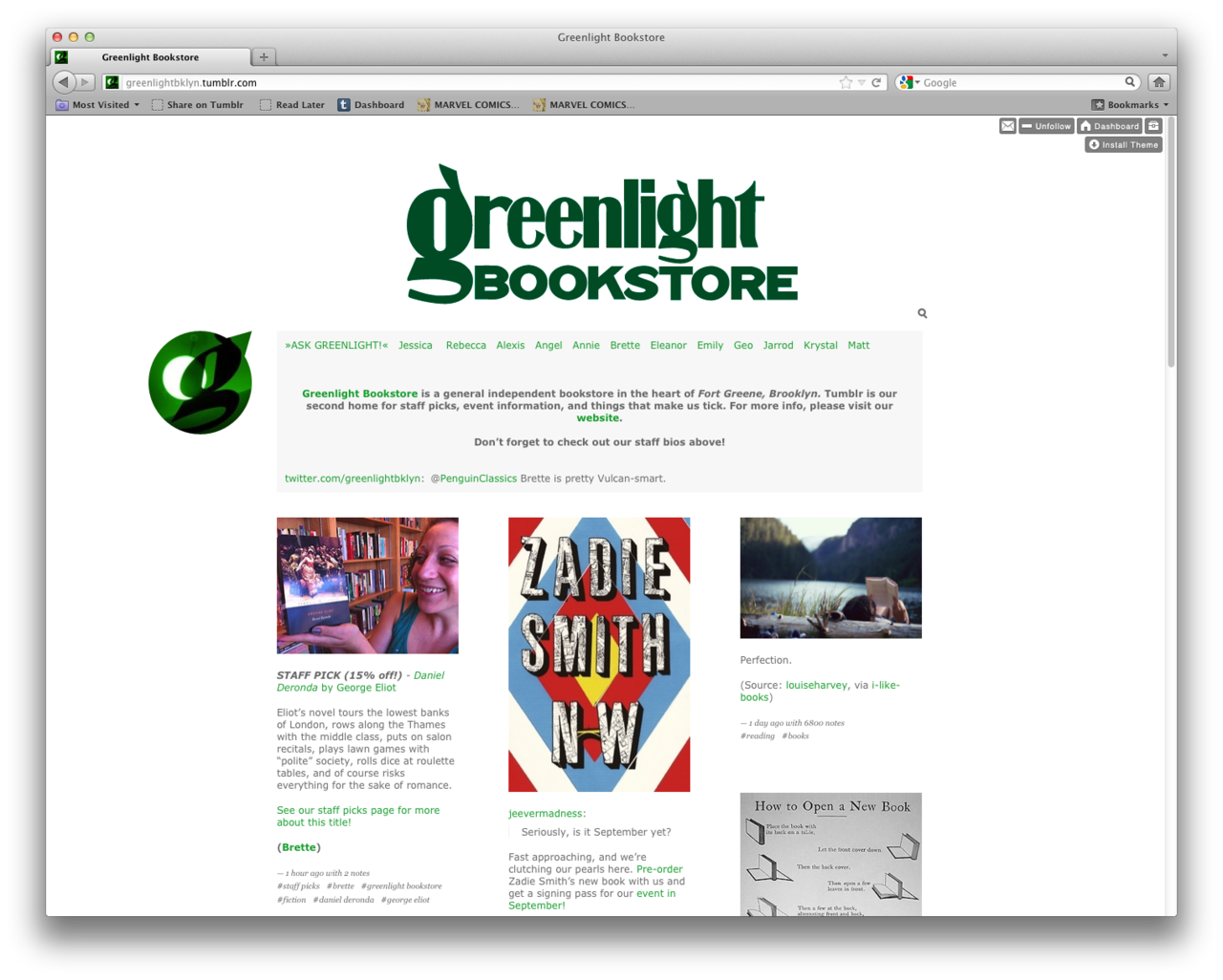 Welcome, Greenlight Bookstore!