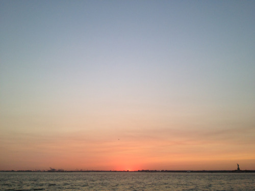 The most amazing sunset, and evening. Red Hook.