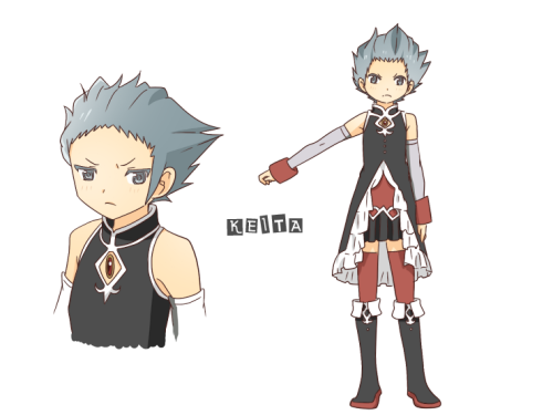 Finally is DeSu Keita. The last of the Devil Magi designs.Unlike Kyouko's type of personality that looks out for SayakaKeita would just like to kick Daichi's ass because he's the weakest (?) lolFor some reason this outfit looks a little… natural on him. I think I might doodle Mizar though.