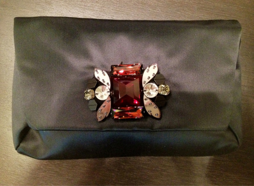Here is a less close-up shot of that Lanvin clutch.  The mirrored beads and gems are little more in focus this time.
