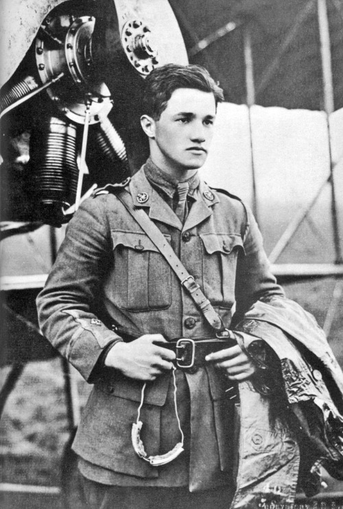 mydaguerreotypeboyfriend:  Albert Ball, decorated British flying ace during World War I. Died at the age of 20, while pursuing the brother of the infamous (and also dashing) Red Baron through a cloudbank. Submitted by agreeablecar