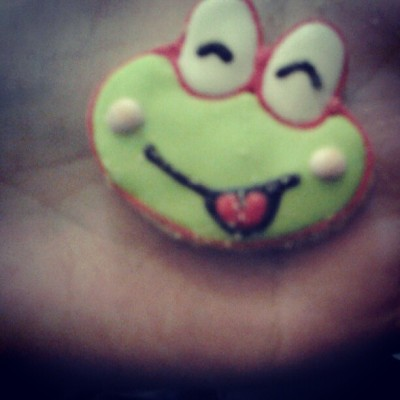 Keroppi cake :) (Taken with Instagram)
