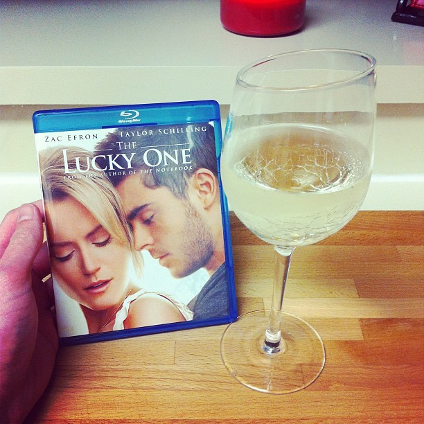 What more does a boy need? #photos #gay #wine #vino #zacefron #loveofmylife #theluckyone #bluray (Taken with Instagram)