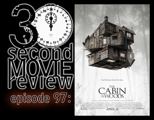 "AND WE'RE BACCCCKKKKKK!!!!! Wonka's 30 Second Movie Review.  Episode 97: ""Cabin in the Woods"" (2012)  http://www.keek.com/!hPRxaab"