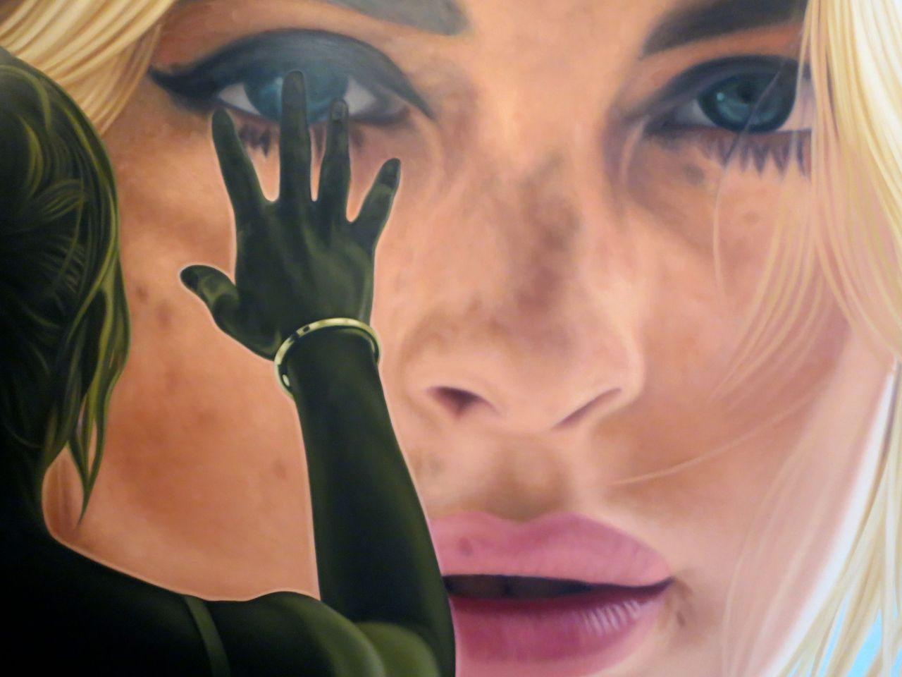 Can't wait until Richard Phillips opens at Gagosian next month. This is a tiny preview from his studio.
