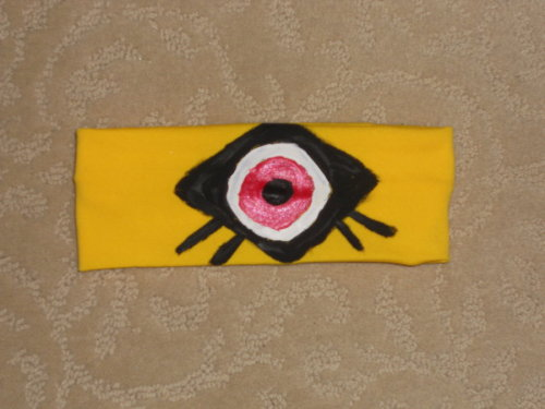 Motorcity Kaia Cosplay Headband by ~invader-hime  Done on a lycra headband in acrylics.  The red is metallic, so it looks pink, but it is shiny red.  Huzzah!  My Kaia cosplay is starting to actually look like what it is!