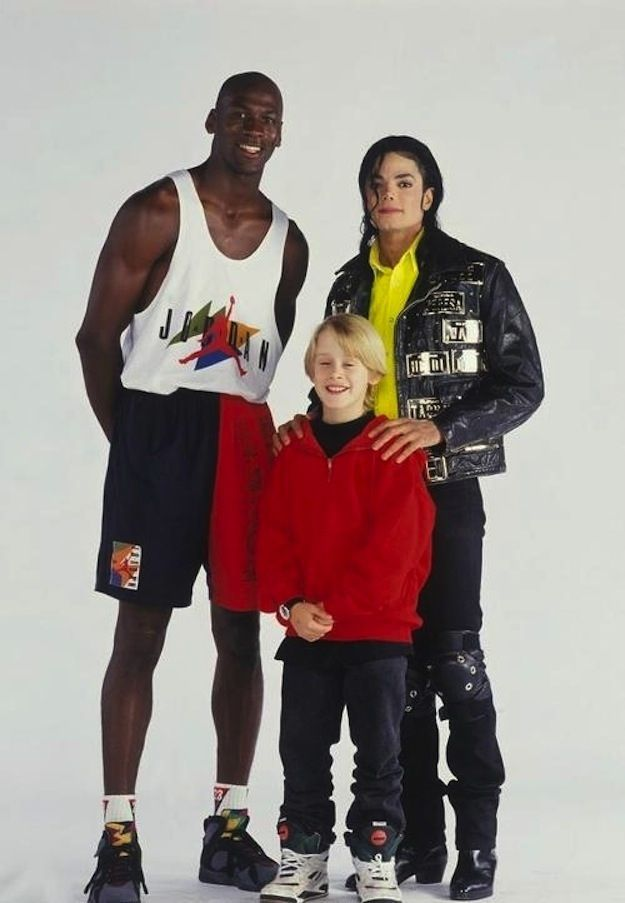 Micahel Jordan, Macaulay Culkin and Michael Jackson