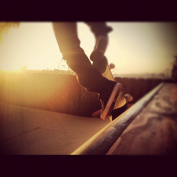 sunset sesh. #notmeskating #justthephotographer (Taken with Instagram)