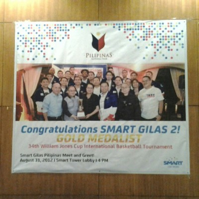 Go gilas! Go pinas! (Taken with Instagram at SMART Tower)