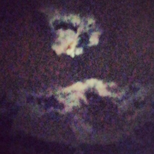 THE MOON AND THE SKY…BEAUTIFUL (Taken with Instagram)