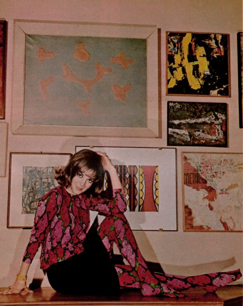 jeanjeanie61:  Natalie Wood With Part Of Her Art Collection