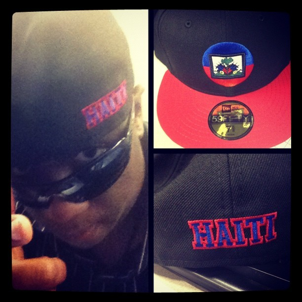 fadaknowsbest:  Got my Official #Haiti #LaborDay2012 New Era Fitted on aka this is as close as imma get to the parkway this year (Taken with Instagram)