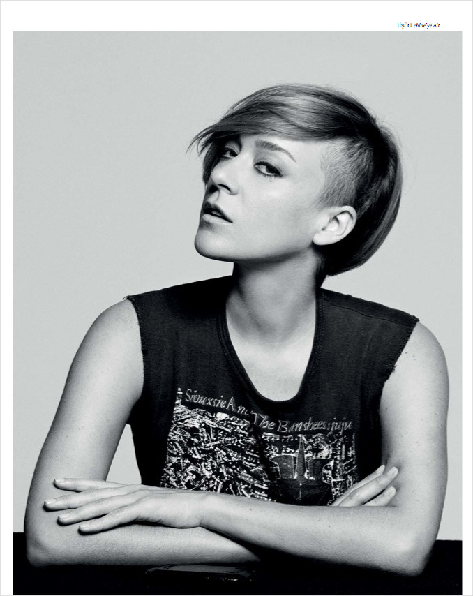 suicideblonde:  Chloe Sevigny photographed by Casey Spooner for XOXO Magazine, September 2012 Chloe has an undercut and is working the hell out of it in this editorial.