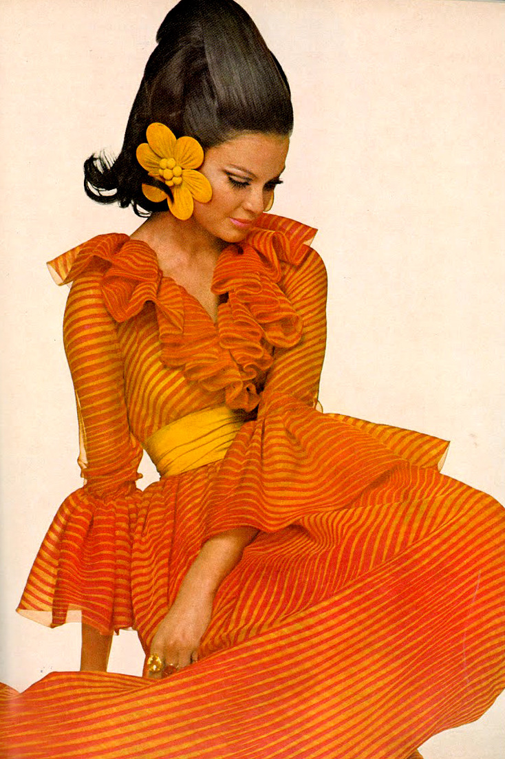 theyroaredvintage:  Photo by Alexis Waldeck, 1968.  Model. Flowering.