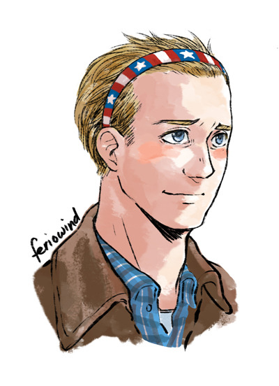 Continuing the head accessories with Steve!  Why is hair so hard to draw sob