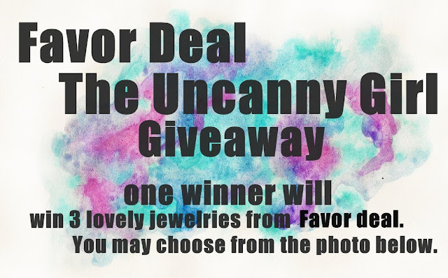 JOIN MY FAVOR DEAL JEWELRIES GIVEAWAY AND WIN THREE JEWELRIES OF YOUR CHOICE! :) ITS OPEN TO ALL COUNTRIES SO EVERYONE CAN JOIN!  JUST CLICK THE PHOTO TO KNOW HOW OR HERE.