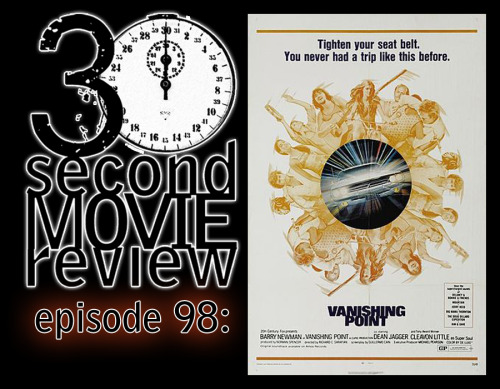"Wonka's 30 Second Movie Review.  Episode 98: ""Vanishing Point"" (1971)  http://www.keek.com/!PxUxaab"