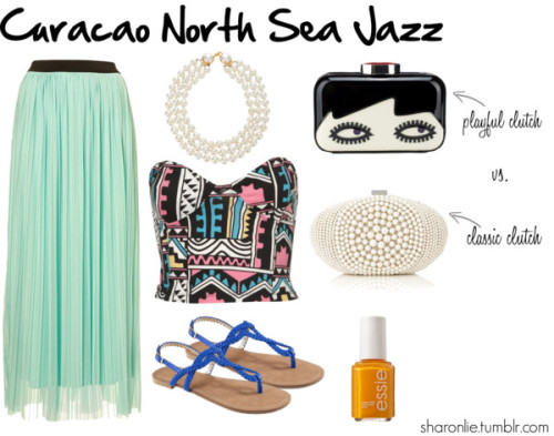 A few people asked me what I would wear to the Curacao North Sea Jazz Festival this year…how flattering!  If I was your stylist this would be my pick for Day 2. Rock a crop strapless top and a flowy maxi skirt while jamming to the sounds of Alicia Keys and endulging in India Arie's feel good music…  Curacao North Sea Jazz 2012 van sharonlie met sweetheart neckline tops