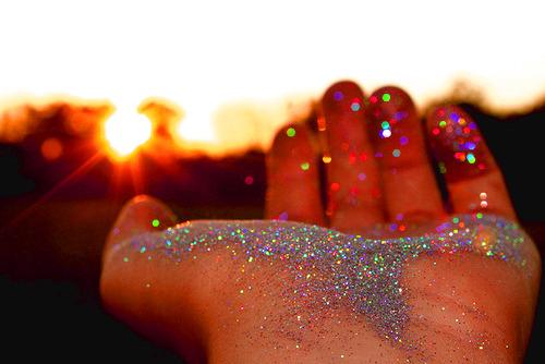 hands hand glitter silver glitter glitter hands sunset