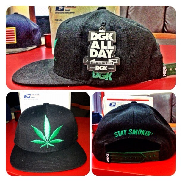 Finally !!! 💚 #pothead #dgk #swag #allday #snapback #highlife #stoner #realpothead #dirtyghettokids #weed #plantlife #highasfuck  (Taken with Instagram)
