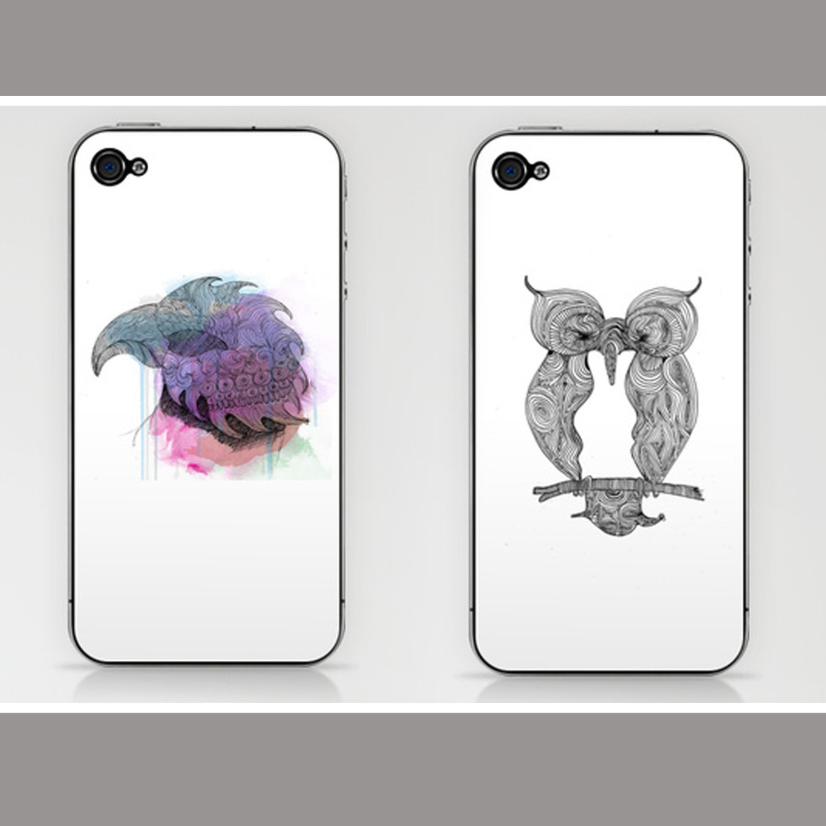 Illustrated iPhone Skins just $22!