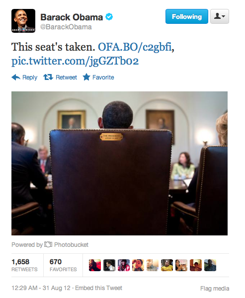 brooklynmutt:  @BarackObama  He doesn't look like he's keeping the seat warm for the next guy.