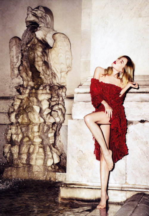 d-elicatebeauty:  Dree Hemingway by Alexi Lubomirski in Simply Red |Harper's Bazaar US