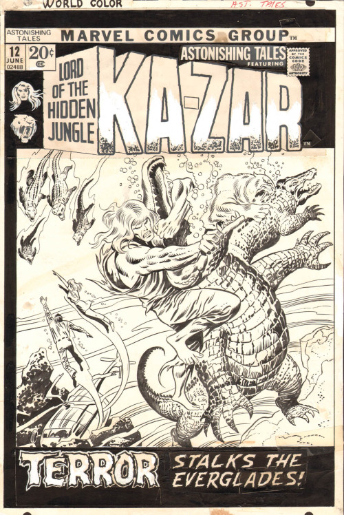 Original Art - Astonishing Tales #012 Cover by John Buscema