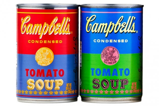 "ART IMITATES LIFE ""To celebrate the 50th anniversary of Andy Warhol's famed work, ""32 Campbell's Soup Cans,"" Campbell's is releasing a series of limited-edition tomato soup cans…"" - Peter Williams, High Snobiety via Gawker via Gizmodo via High Snobiety via Hype Beast via Juxtapoz via The World's Best Ever"