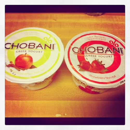 #greekyogurt  #strawberrynonfat #gonnatrychobani #photooftheday #iphonisia  #suchagreatday #veryblessedday (Taken with Instagram)