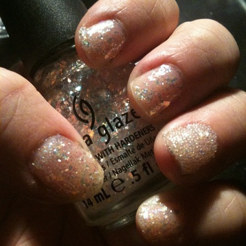 #notd : #caviarnails #chinaglaze #thehungergames #luxe #flakie #glitter #pretty #shiny (Taken with Instagram)