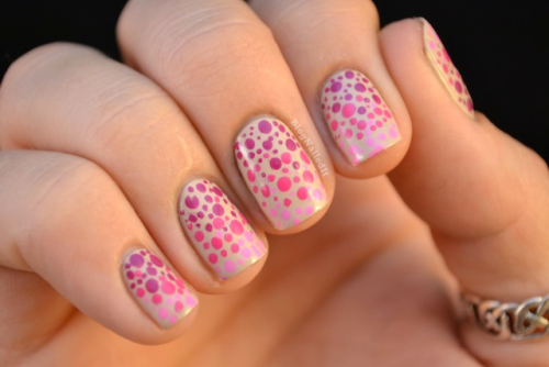 blognailedit:  Gradiated Dots featuring ALL Zoya polishes!