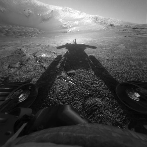 Shadow of a Martian Robot