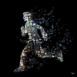 "srdash:  A mosaic for the cover of ""Ghost in the Wires"", the latest book by the world's most wanted hacker Kevin Mitnick. (Photo by tsevis) Read more about the book at here and here Here is Kevin Mitnick's ""Wanted"" poster issued by U.S. Marshals, 1992."