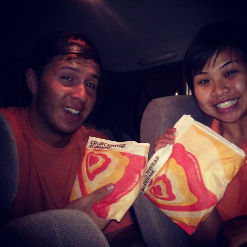 Taco bell with one of my favorite (Taken with Instagram)