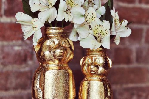 (via Gold Honey Bear Vase D.I.Y. - A Beautiful Mess)