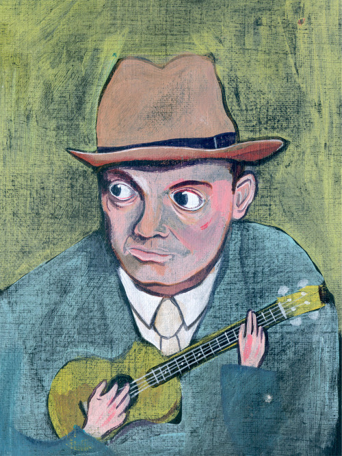 Cliff Edwards (Ukulele Ike), illustrated by Paul Andrews  This from a book I wrote (well, my alter ego, Arthur Ravenscrag) called Ode to Uke.  It's available on the iBookstore and Kindle and has illustrations, songs, and some ramblings. via www.ukulelebook.co.uk  Hat tip ukuleleporn