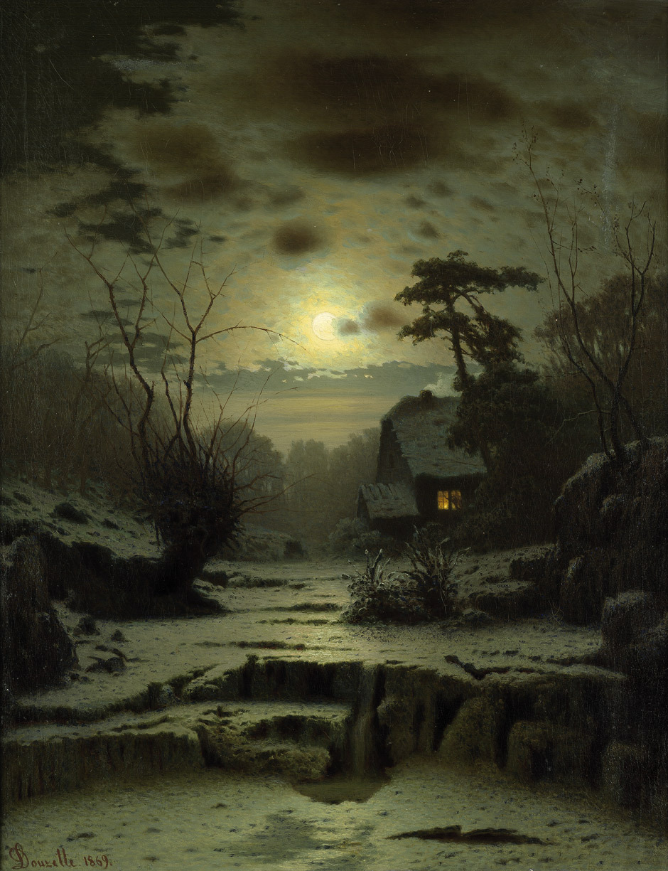 fragmentedletters:  Winter Landscape - Louis Douzette