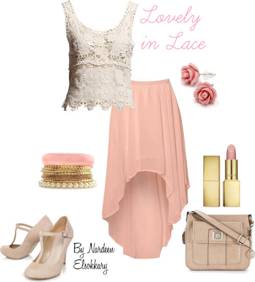 Lovely in lace by nardeenelsokkary featuring cross body handbags