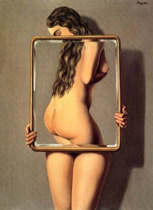 oldpainting:  Magritte, The Dangerous Liaison, 1926